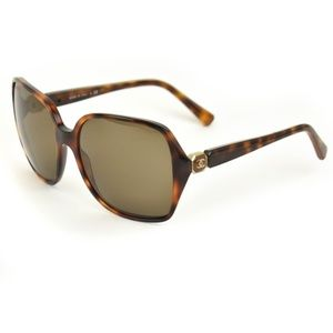 CHANEL Tortoise Brown & Gold CC Logo Sunglasses hd